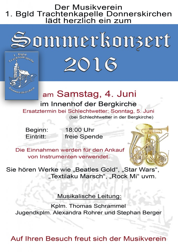 Plakat Sommerkonzert 2016
