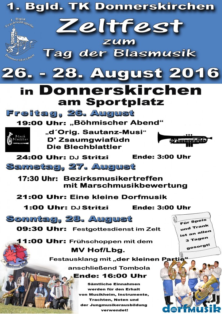 Plakat Zeltfest 1